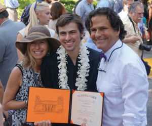 Ann and Bruce Blume with son Jacob '14