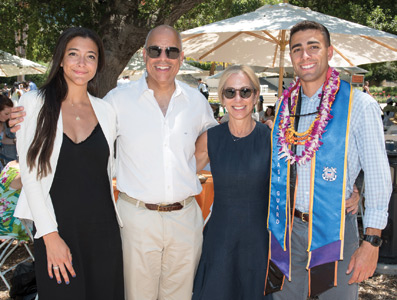 Jeh C. Johnson Jr. '17, a mathematics major,  with sister Natalie, father Jeh Johnson, and mother Susan DiMarco