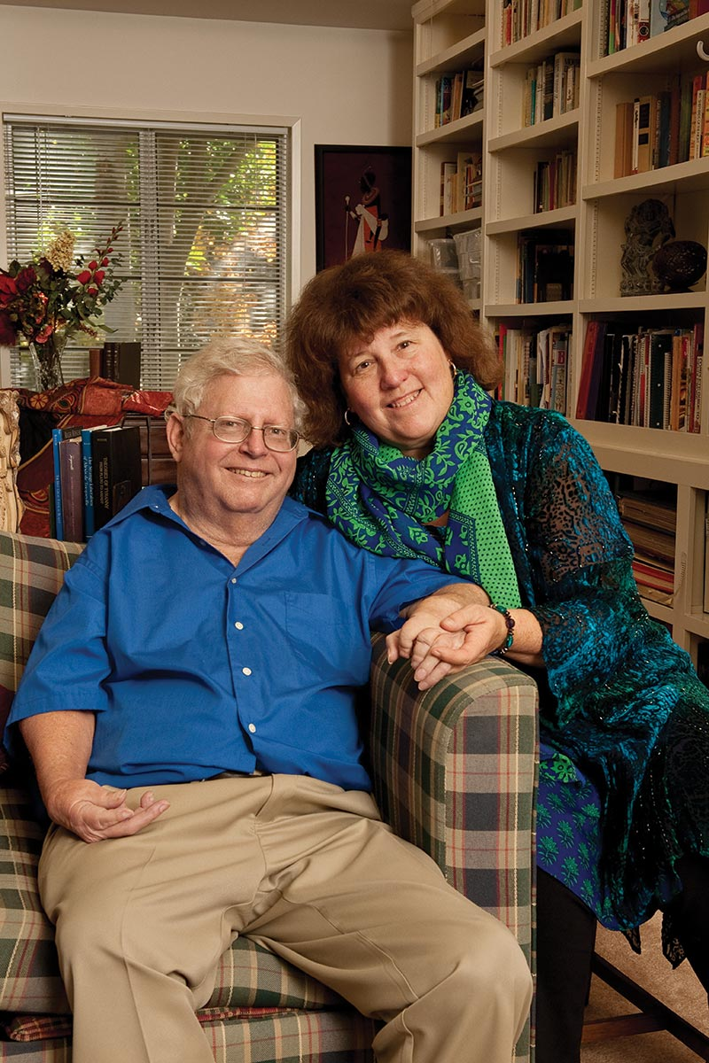 Mandy Boesche with her husband, the late Prof. Roger Boesche